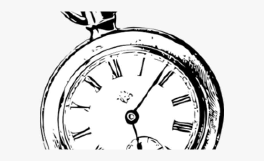jpg black and white Wonderland clipart pocket watch. Alice in clip