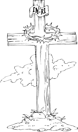 svg freeuse download Wood Cross Drawing at GetDrawings