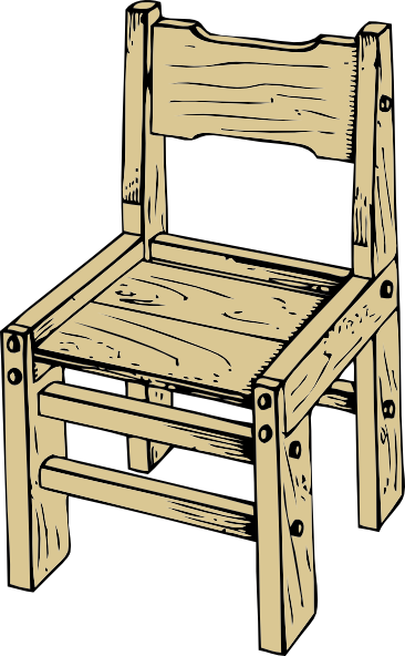 vector royalty free download Wood furniture french bathroom. Chair clipart black and white