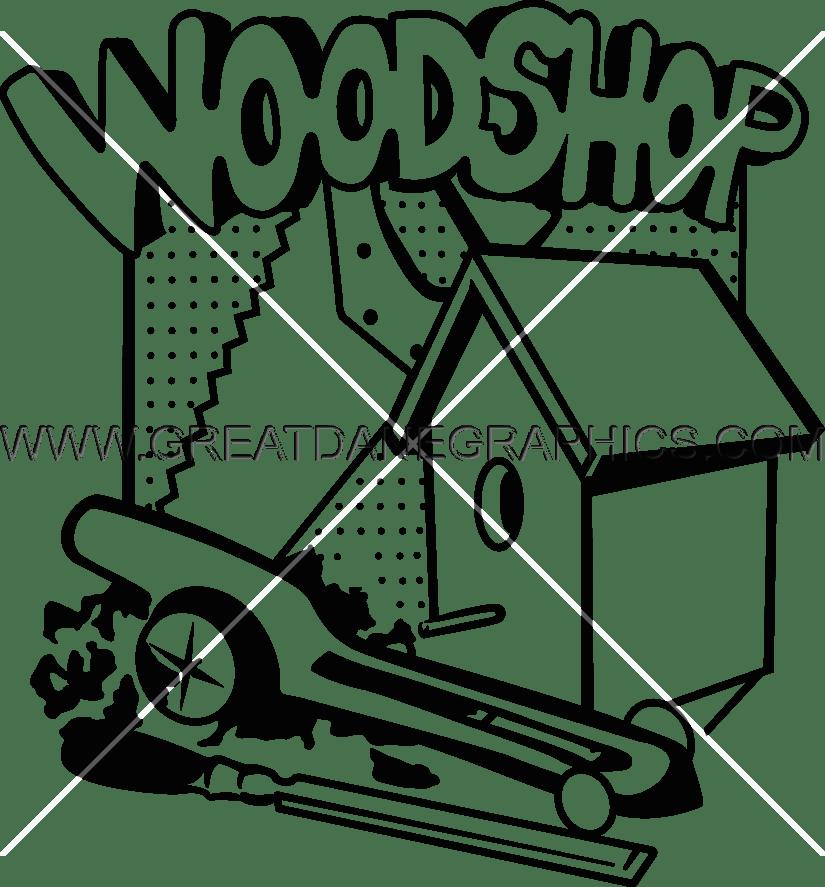 clip transparent library Wood shop clipart