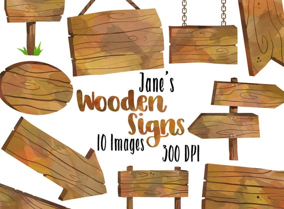 svg Wooden clipart. Watercolor signs borders download