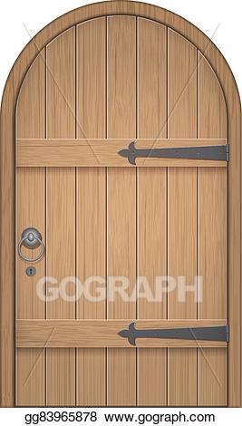 vector transparent library Vector door arch. Art old wooden clipart