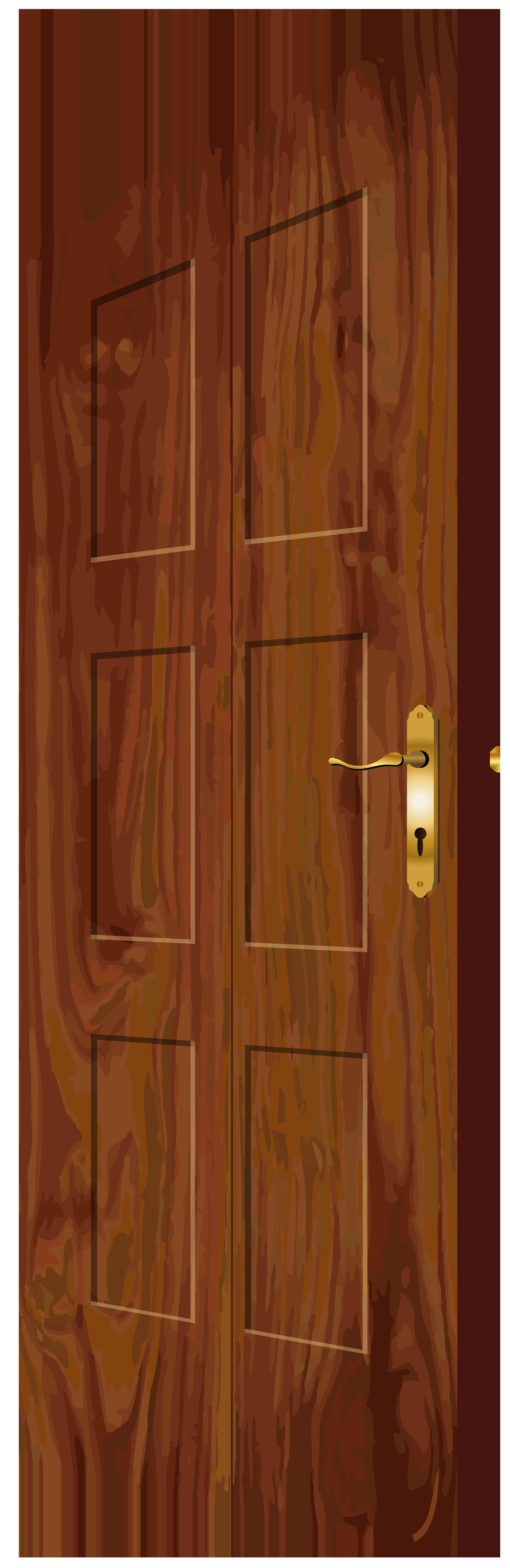 banner free stock Png clip art best. Vector door wooden