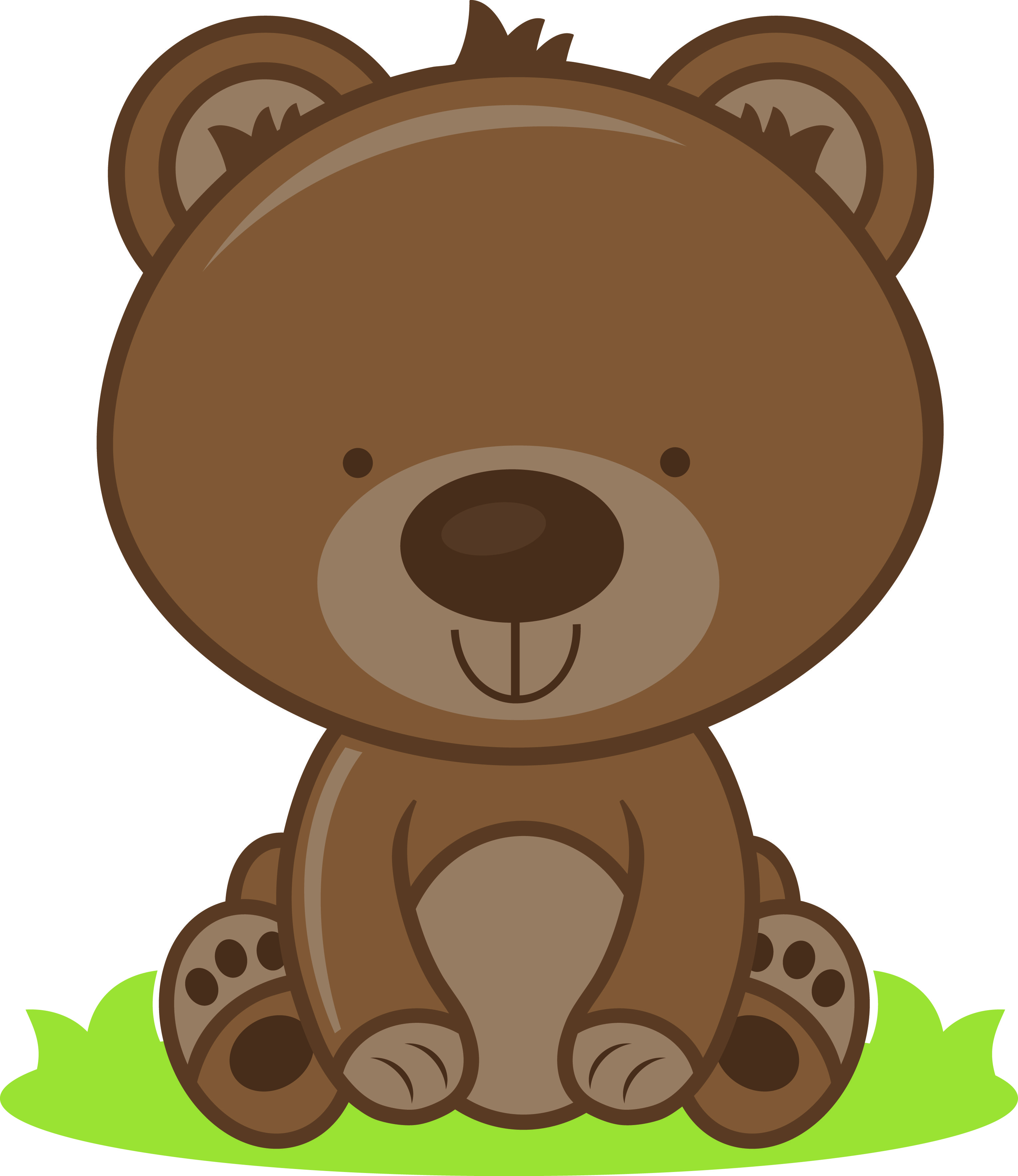 clipart download Woodland bear clipart. Baby jade beaver porcupine