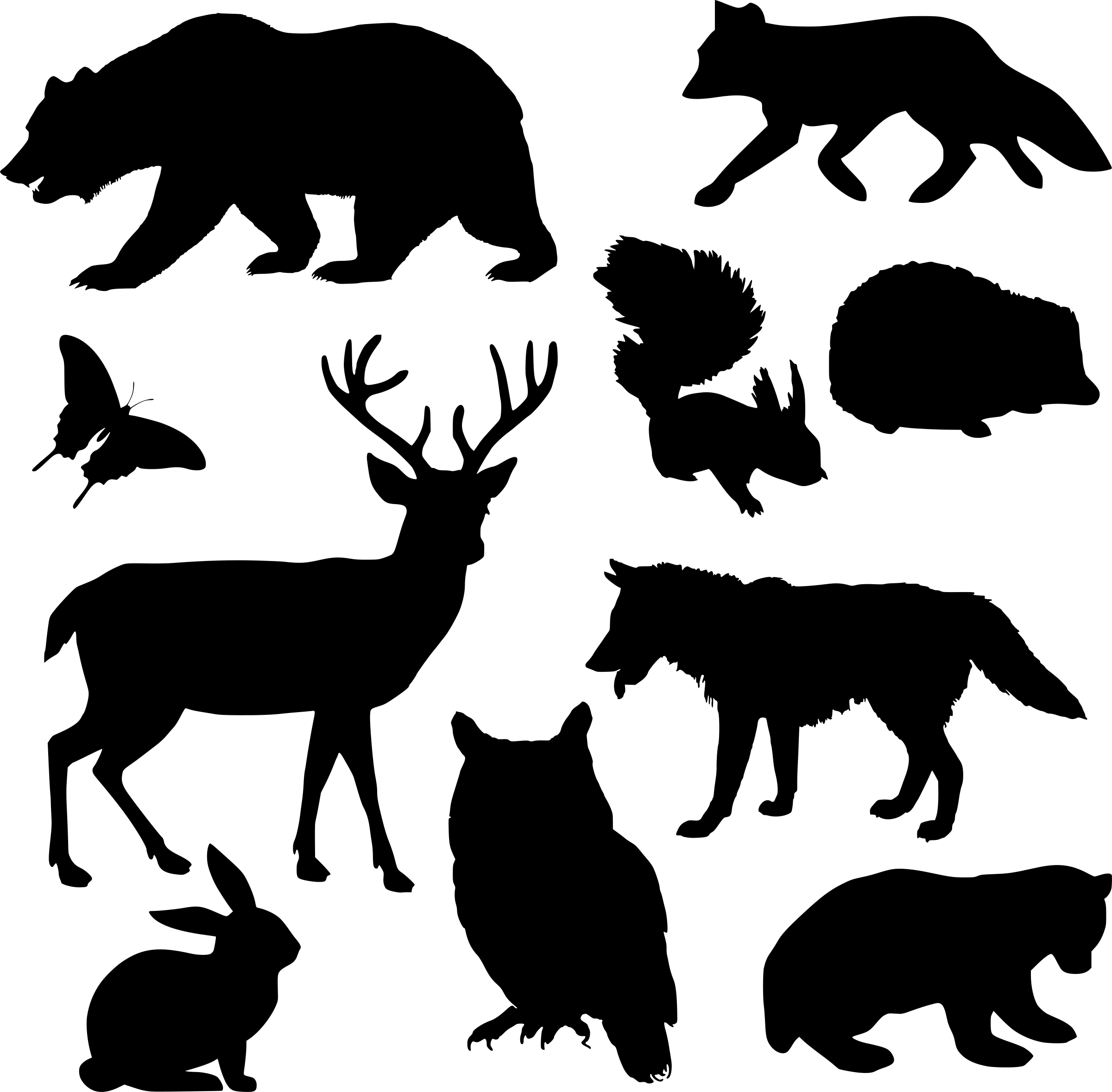 svg Woodland animal clipart. Animals silhouette big image