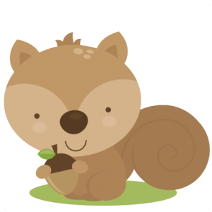 png royalty free Cute squirrel svg cut. Woodland clipart