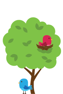 graphic royalty free download Animals clipart plant. Cute woodland and forest.
