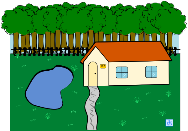 picture library Cabin in clip art. Woods clipart