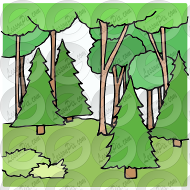 picture black and white Picture for classroom therapy. Woods clipart