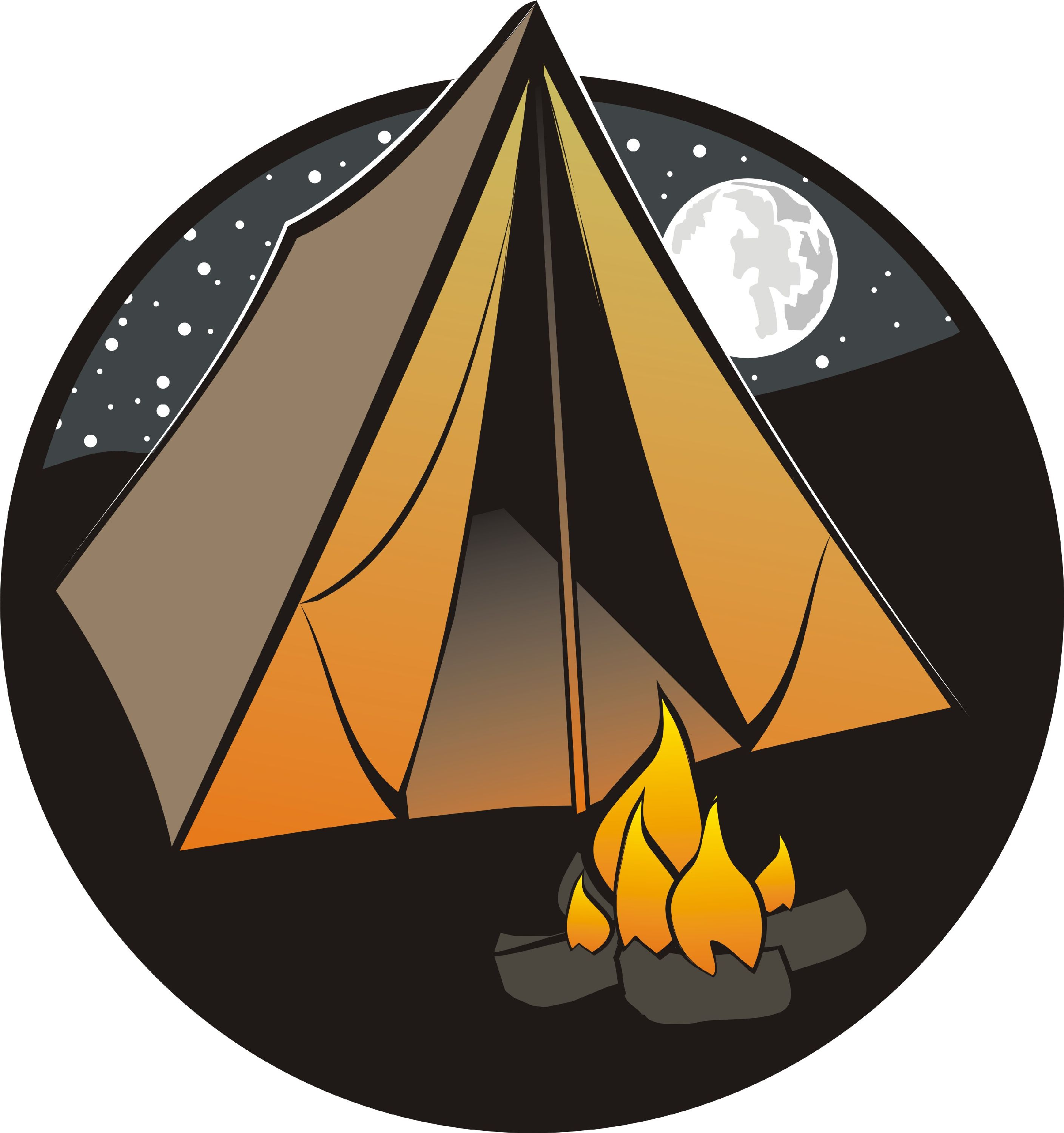 banner royalty free Tent and campfire clipart. Camping clip art free