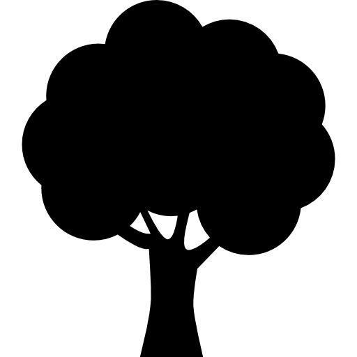 vector black and white stock Forest Tree Silhouette at GetDrawings