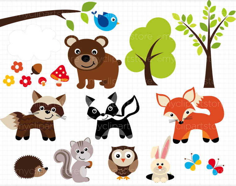 svg download Free cliparts download clip. Forest animal clipart
