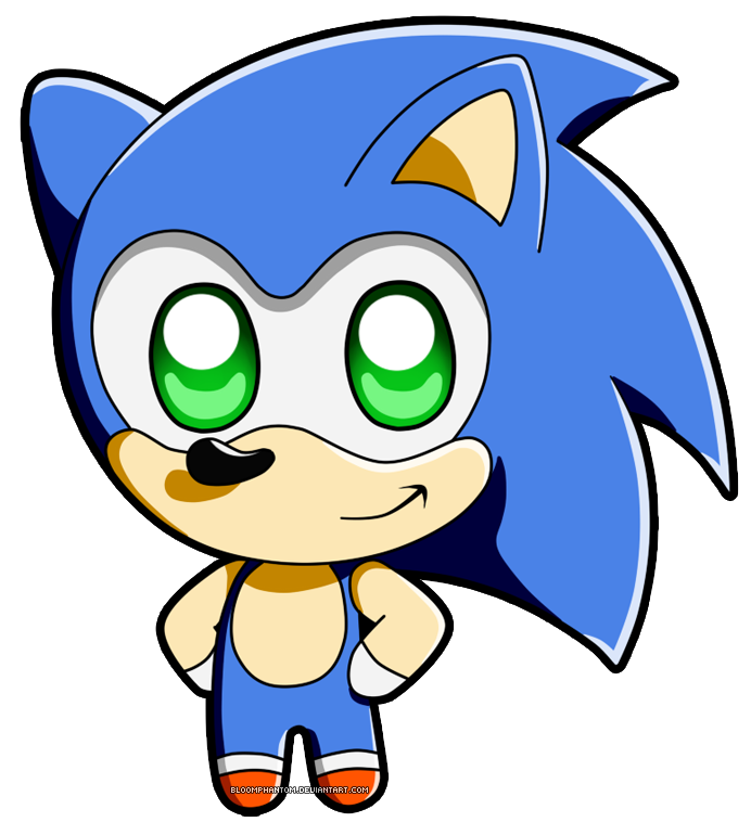 banner free stock Drawing sonic cute. Image chibi by bloomphantom