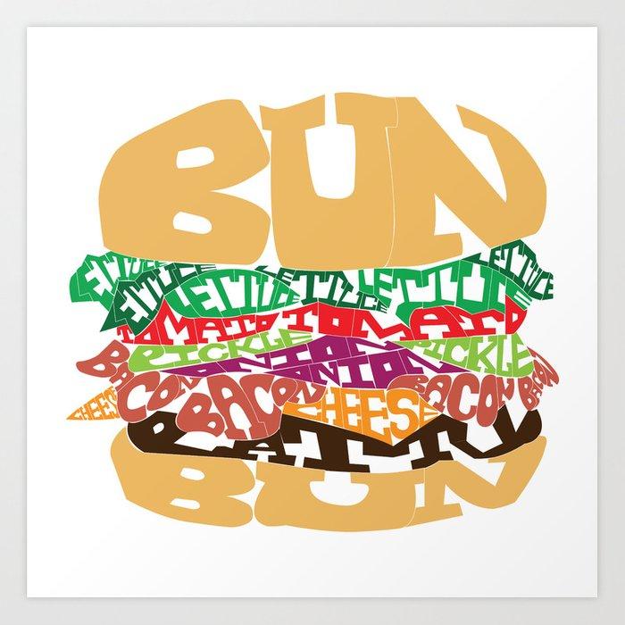 svg royalty free Word drawing. Burger art print by.