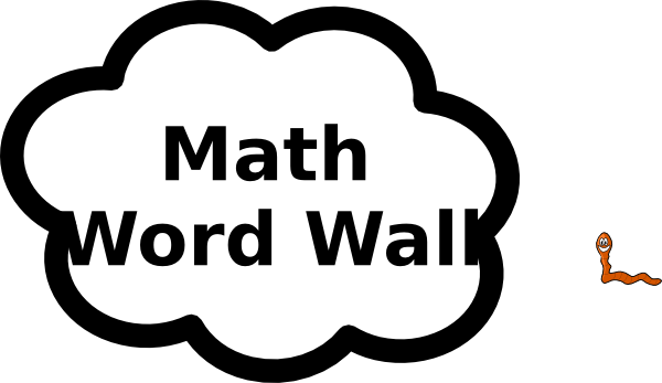 freeuse library Math clip art at. Word wall clipart