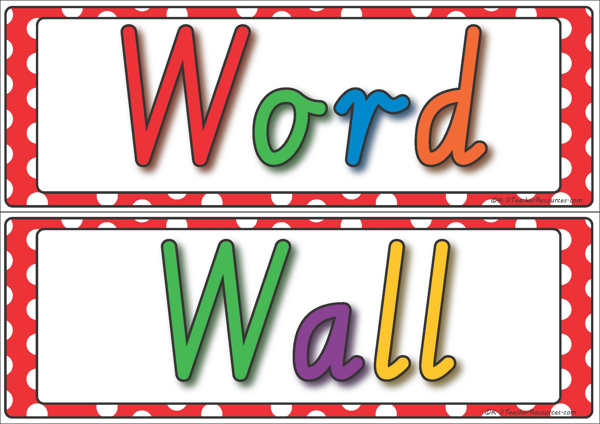 picture library Word wall clipart. Free cliparts download clip