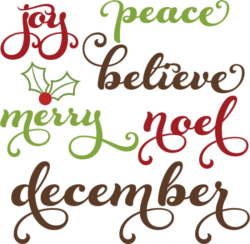 clip library stock Words clipart. Christmas svg cutting files