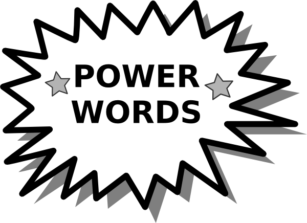 jpg download Power word card clip. Words clipart