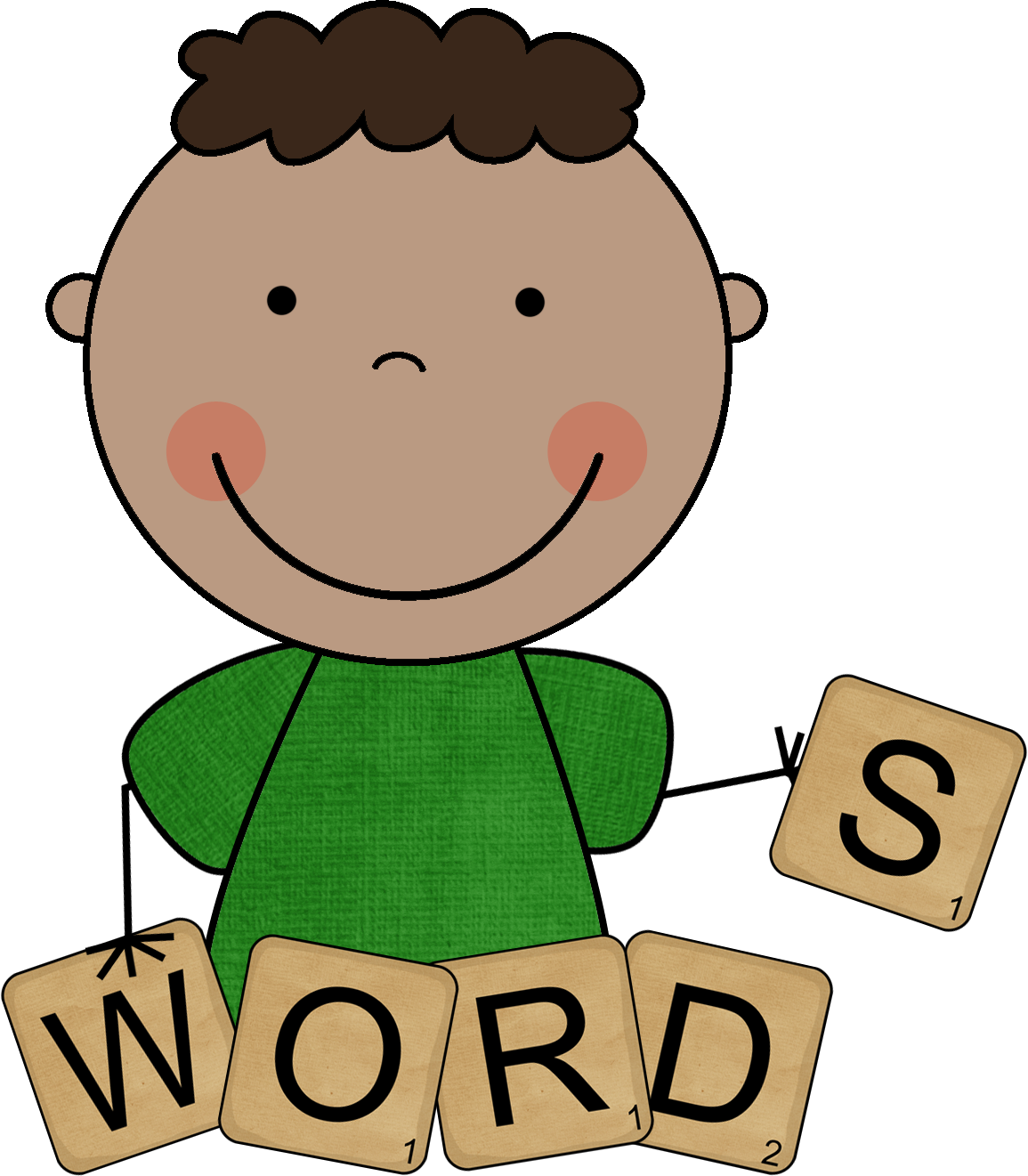 clip art library Words to know . Centers clipart word study.