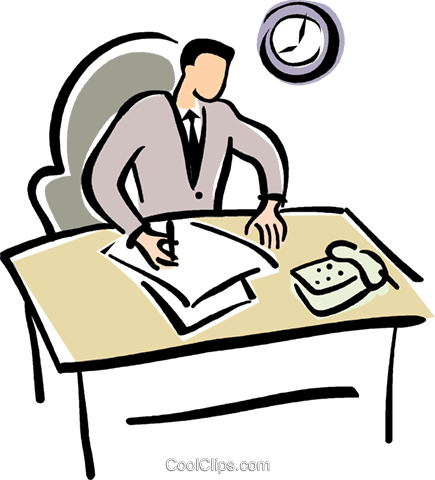 graphic freeuse library Work clipart. Working office frames illustrations