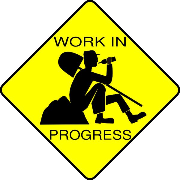 clip black and white stock In progress clip art. Work clipart.