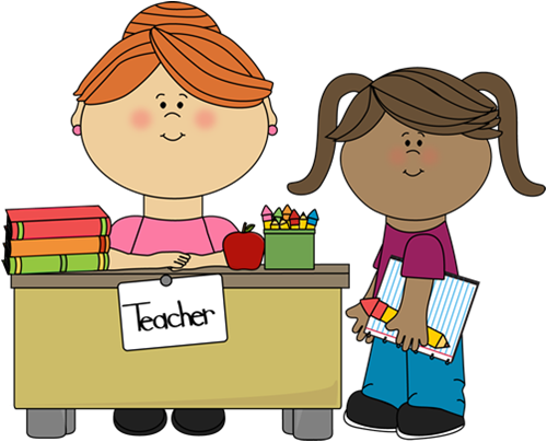 black and white stock  collection of assistant. Teacher teaching students clipart