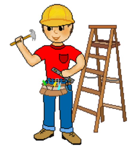 vector free stock Worker clipart. Construction bcybrkdcl
