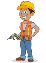 vector free stock Free construction cliparts download. Worker clipart