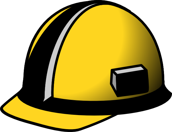 clipart black and white Clip art at clker. Worker clipart helmet
