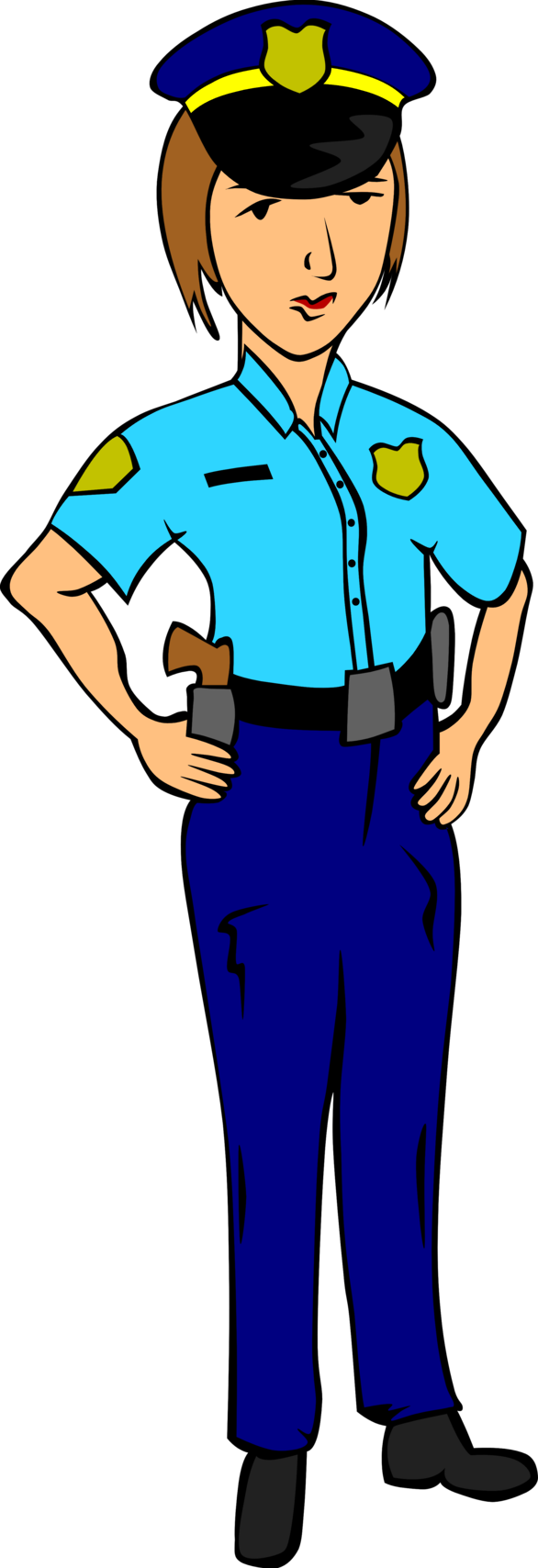graphic royalty free library Female Police Officer Clipart