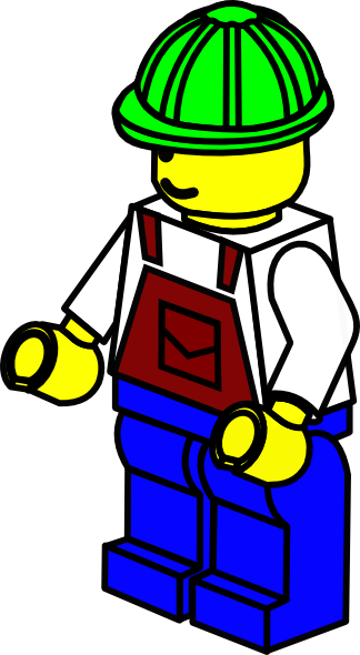 free download Green hat lego construction. Workers clipart
