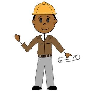 banner transparent Stick man clip art. Working men clipart.