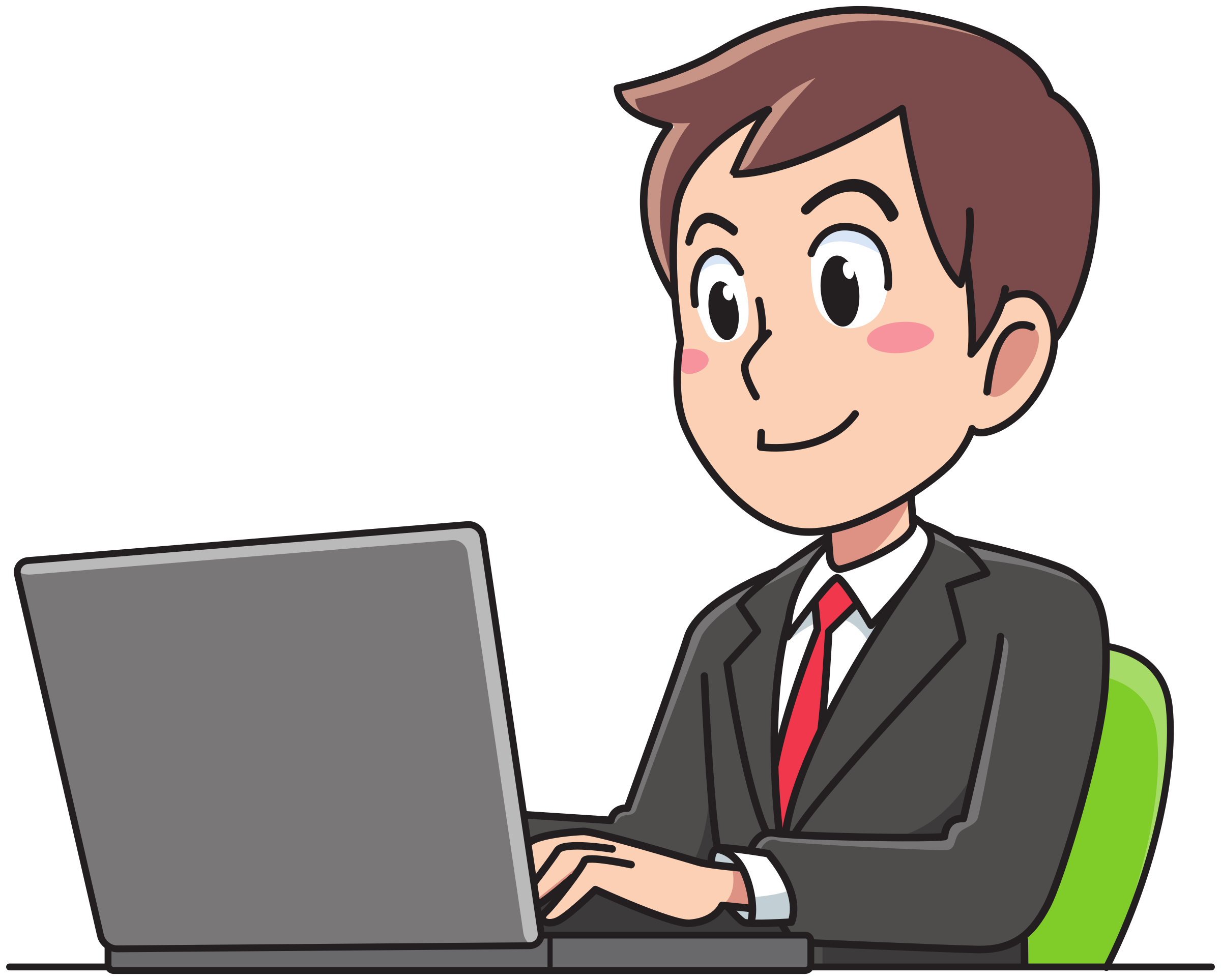 png download Business man big image. Free clipart people working.