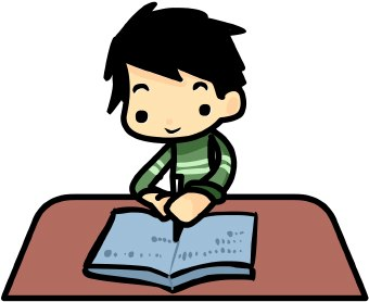 picture library download Student working writing clip. Writer clipart write this down