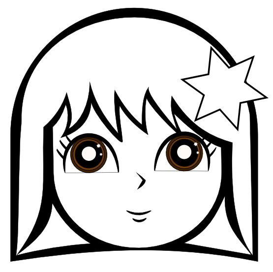 jpg free download Working together clipart black and white. Anime cute girl line.