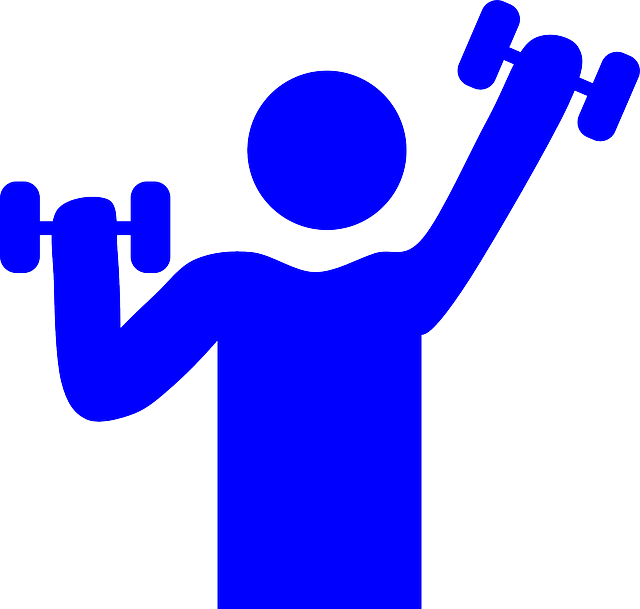vector royalty free Workout clipart physically. My gym office worker