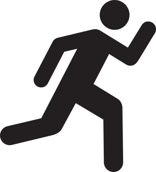 banner free download Workout clipart run. Running from moose january