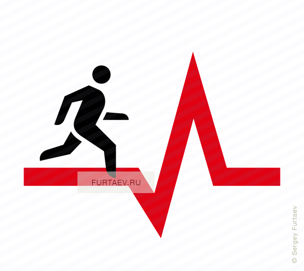 banner free stock Workout vector. Cardio icon of man