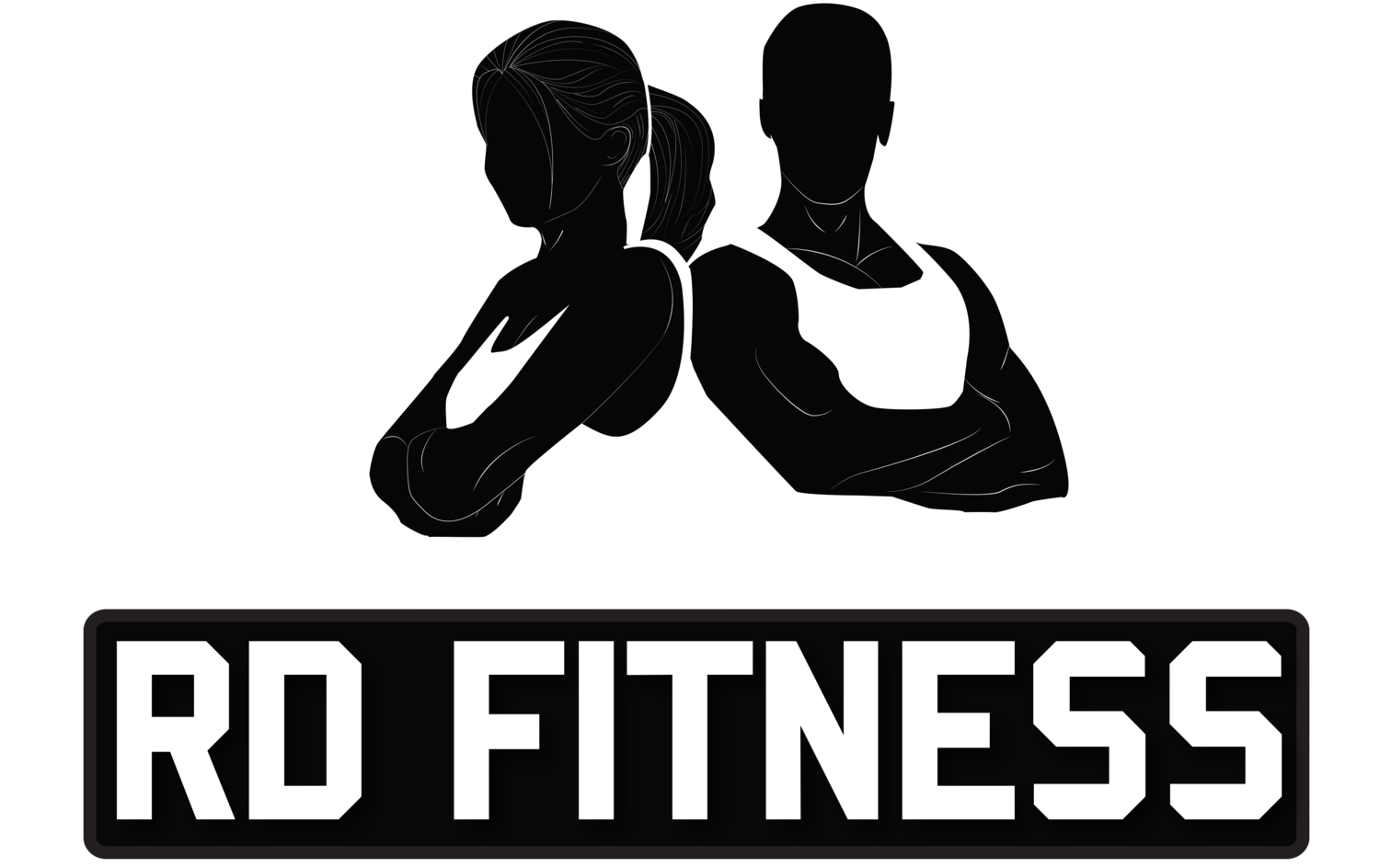 image black and white stock Workout vector fitness. Rd net vancouver personal