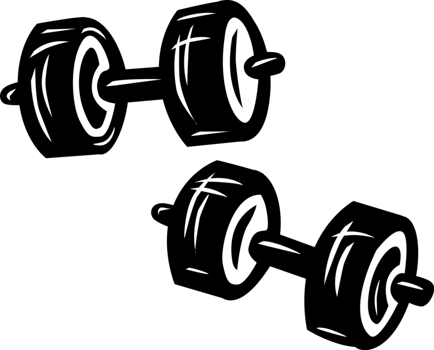 jpg royalty free library Bar vector weight. Bodybuilding weights and dumbbells