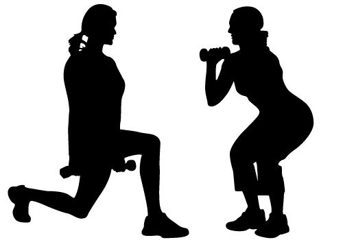 image library stock Exercise vector. Women free download silhouette.