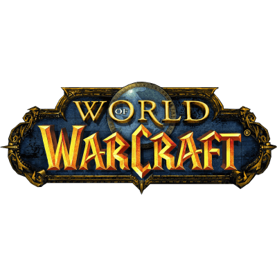 clipart black and white stock World Of Warcraft Logo transparent PNG