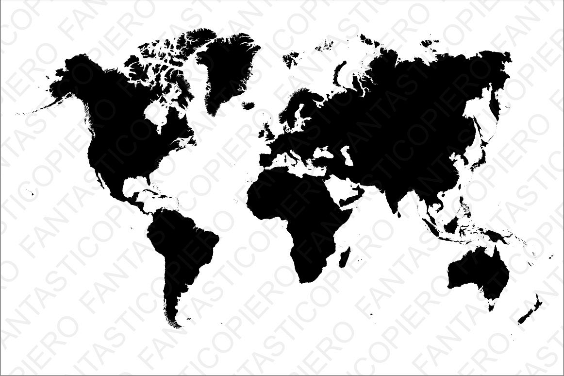transparent library World svg. Map file for silhouette.