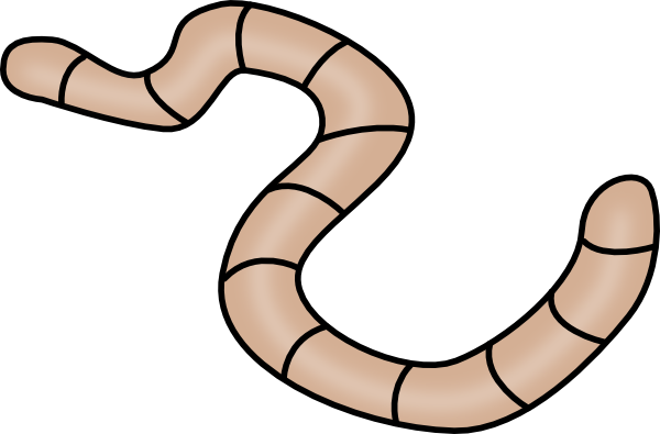 graphic black and white stock earthworm worm PNG