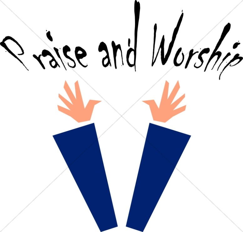 clip art library Worship clipart. Praise and image word