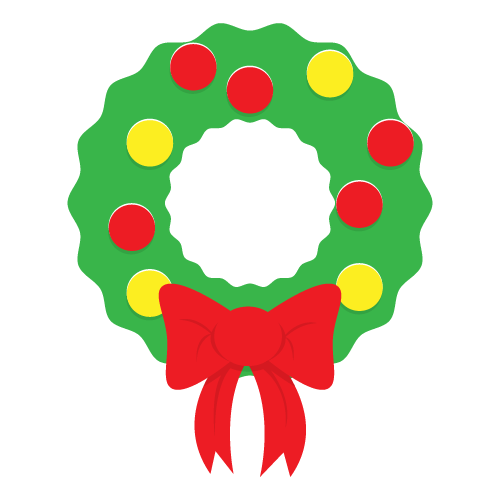 png Wreath clipart. Christmas free to use.