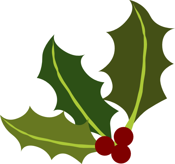picture free library Holly Leaf Corner Clip Art at Clker