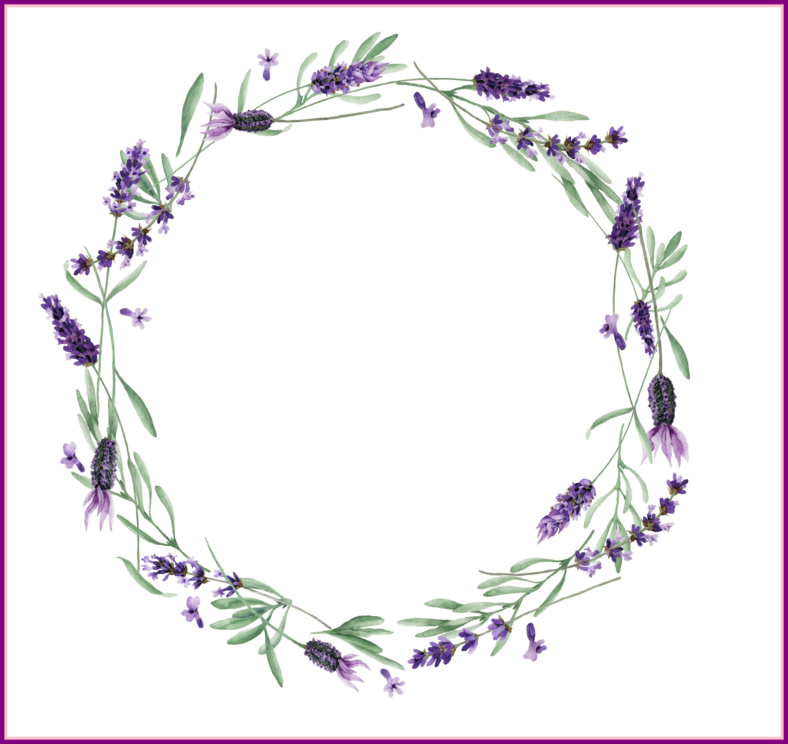 clip royalty free Lavender wreath clipart.  ideas of flower