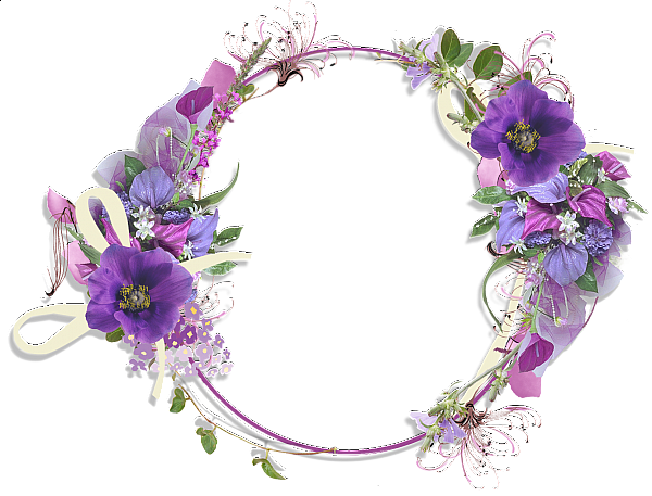 jpg library Lavender wreath clipart. Purple flower borders and