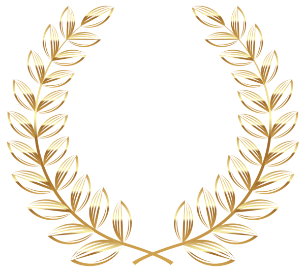 jpg royalty free download Golden Wreath Transparent PNG Clipart Picture
